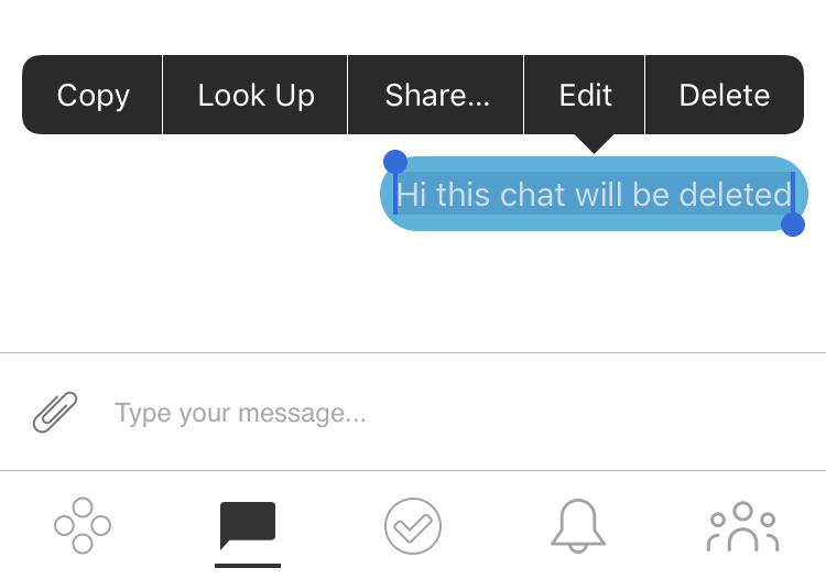 Can I delete messages? (iOS) – SquadPod Help Desk™